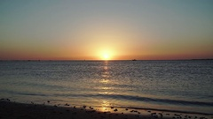 Relaxing sunset on the beach. Stock Footage