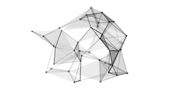 Wireframe mesh dot and lines object Stock Footage