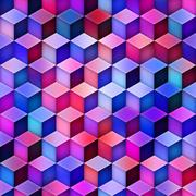 Gradient Cubes Tiling. Seamless Multicolor Pattern Stock Illustration