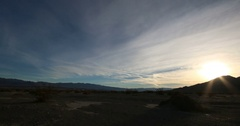 Time-lapse in Stovepipe Wells, Death Valley National Park Stock Footage