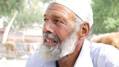 Bearded senior muslim Stock Footage