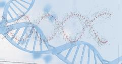 Device screen of DNA helix pattern Stock Illustration