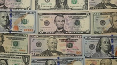 Words On Money. Happy Kids. Dollars Banknotes. Stock Footage