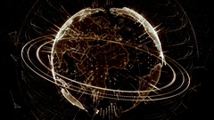 3d animation of a growing network across the world - brown version Stock Footage