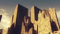 Post Apocalyptic Demolished City 2 Stock Footage