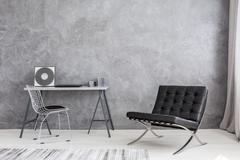 Modern lounge chair and music collection Kuvituskuvat