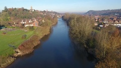 River Severn, Bridgnorth. Stock Footage