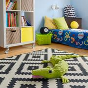Crocodile toy on the floor Stock Photos