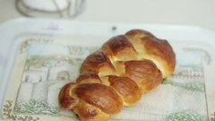 Cooking Challah from wheat flour Stock Footage
