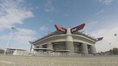 San Siro football arena in Milan Stock Footage