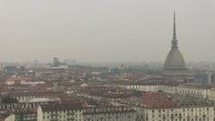 Skyline of torino, Italy Stock Footage