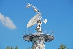 Radio telescope is a form of directional  antenna used in  astronomy. satel.. Stock Photos