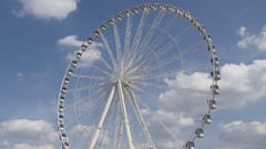 PARIS, FRANCE - French famous attraction The Big Wheel Stock Footage