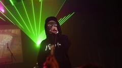 SAINT PETERSBURG, RUSSIA - OCTOBER 31, 2015: Rap artist perform Stock Footage