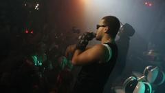 SAINT PETERSBURG, RUSSIA - OCTOBER 31, 2015: Rap artists perform Stock Footage