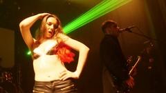 SAINT PETERSBURG, RUSSIA - OCTOBER 31, 2015: Sexy stripper dance Stock Footage