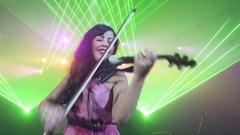 SAINT PETERSBURG, RUSSIA - OCTOBER 31, 2015: Attractive violinis Stock Footage
