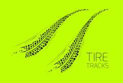 Tire tracks background Stock Illustration