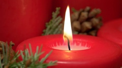 Flame on the Christmas candle Arkistovideo
