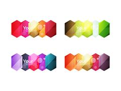 Set of vector shiny blank boxes for your content Stock Illustration