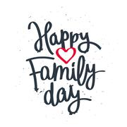 Happy Family Day! Fashionable calligraphy Stock Illustration