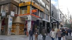 4K Billion Market Pawnshops Ermou street Athens Greece Europe Stock Footage