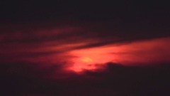 Air plane With Sunset Stock Footage