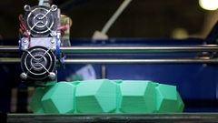 International Conference and Exhibition of 3D printing and scanning Stock Footage