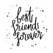 Best friends forever. Trend calligraphy. Stock Illustration