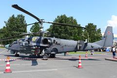 Attack helicopter Ka-52 Alligator Stock Photos