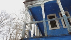 Beautiful old ruined house. Stock Footage