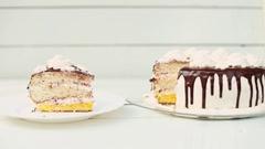 Piece of cake closeup Stock Footage