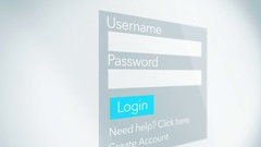 Username and Password for a Generic Log in form for website Stock Footage