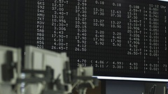 Stock Market Prices Stock Footage