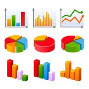 Infographic set with colorful charts and diagram Stock Illustration