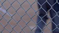 The umpire brushes off home plate at a little league baseball game. Stock Footage