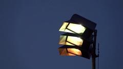 Stadium lights lighting up a sports field. Stock Footage