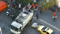 4K Crowded shopping street near Monastiraki square Athens Greece Europe Stock Footage