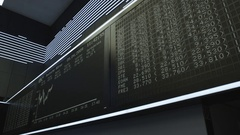 Display board in Frankfurt stock exchange - time lapse Stock Footage