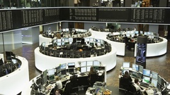 Inside Frankfurt Stock Exchange - trading floor Stock Footage