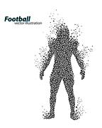 Silhouette of a football player from triangle. Rugby. American footballer Stock Illustration