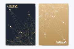 Modern vector template for brochure Leaflet flyer advert cover magazine or Stock Illustration