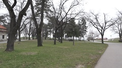 Kalemegdan park in Belgrade Stock Footage