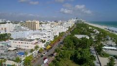 Aerial footage Miami Beach 4k 60p Stock Footage