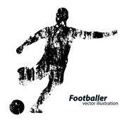 Silhouette of a football player Stock Illustration