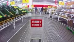 Supermarket Shopping Time Lapse Stock Footage