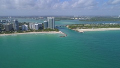 Haulover Inlet Miami aerial footage Stock Footage