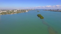 Hyperlapse aerial drone video Miami Biscayne Bay Stock Footage
