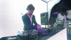 DJ on stage Stock Footage