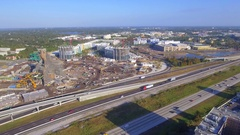 Water park construction Orlando FL Stock Footage